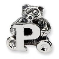 Wholesale 925 Sterling Silver Bead Charm Bear With Alphabet  For Bracelet Necklace from china suppliers