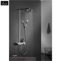 China IT-H005 thermostat controlled shower valves #304 SS  thermostatic bath shower set rectangle top Shower with hand shower on sale