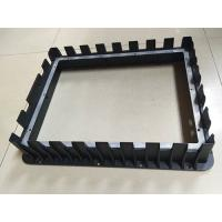 China Front Bezel Housing Black Painting Die Casting Parts Customized Aluminum Diecasting for sale