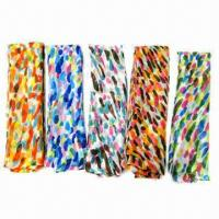Wholesale Fashionable Voile Scarves with Colorful Irregular Dots Pattern Printed, Various Colors are Available from china suppliers