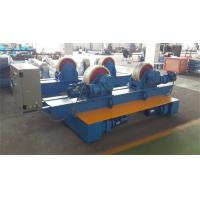Bolt Adjustment Movable Pipe Welding Rollers , 20 T Capacity Pipe Supports Stands for sale