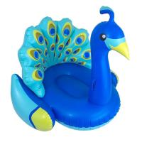 China Giant Blue Peacock Pool Float , Swimming Pool Floats Heavy Duty PVC Vinyl on sale