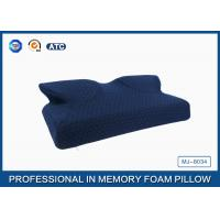 Wholesale Butterfly Shape Navy Curved Memory Foam Pillow With Soft Zippered Cover from china suppliers