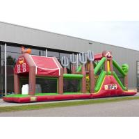 Wholesale Cowboy Inflatable Obstacle Course Red Farm Bouncy Obstacle Course from china suppliers