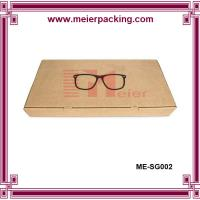 Wholesale Hot sale glasses paper packaging box, cheap brown kraft paper sunglass box ME-SG002 from china suppliers