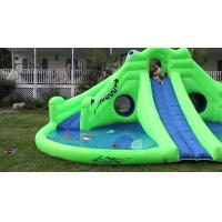 Quality Commercial Inflatable Water Park , Green Inflatable Water Slide Pool for sale