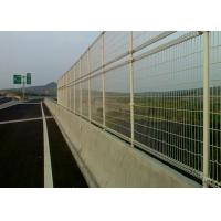 Wholesale Green Powder Coated Steel Wire Fencing Security For Highway , 48mmx1.0mm Size from china suppliers