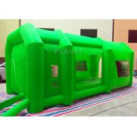 China Green Color Inflatable Spray Paint Booth 3 D Design For Trade Show on sale