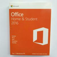 Wholesale Microsoft Office 2016 Home and Student  Package & Key Card & Product Key For windows- 1 PC License from china suppliers