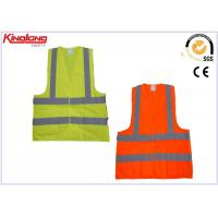 Wholesale Orange / Yellow Poly Safety Security Vest / Unisex High Visibility Vest from china suppliers