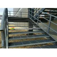 China Water / Power Plant Steel Stair Treads Grating Hot Dipped Galvanized on sale