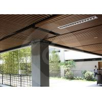 Wholesale Modern Strip Ceiling Panel WPC ECO Composite Wood For Indoor Decoration from china suppliers