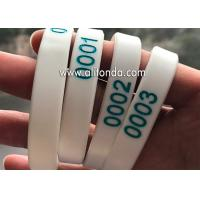 Numbers silicone wristband custom numbers series silicone wristband for sport meeting travel bidding hospital hotel for sale