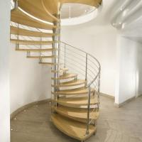 Wholesale Modern Design Indoor Stairs Stainless Steel Railing Glass Spiral Staircase from china suppliers
