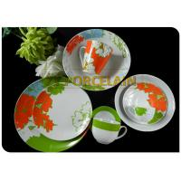 Home Garden Green 32 Piece Coupe Tableware Set On Glaze Comply With International Standard for sale