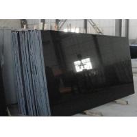 China Absolute Black Granite Shanxi Black Granite pure black granite slabs for wall flooring tiles for sale