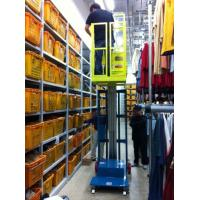 Quality Hydraulic Aluminum Alloy Aerial Order Picker Lift Semi - Electric 3.8m for sale