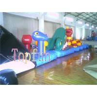0.9mm PVC Tarpaulin Inflatable Bounce House Water Slide For Swimming Pool