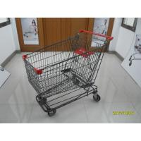 Wholesale Personal 210L American Wire Shopping Cart With Logo Customized On Handle from china suppliers