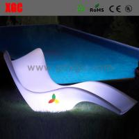 Wholesale LUMINOUS Led Color Changing Sun Bed PE PE Outdoor Lounger chair from china suppliers