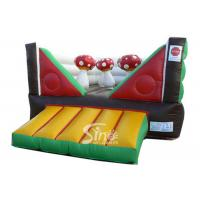 Commercial Indoor Kids Mushroom Bouncy Castle Made With 0.55mm Pvc Tarpaulin for sale