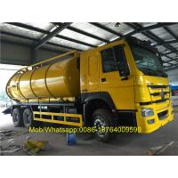 Wholesale SINOTRUK Howo 6x4 18CBM Vacuum Suction Sewer Cleaning Sewage Tanker Truck from china suppliers