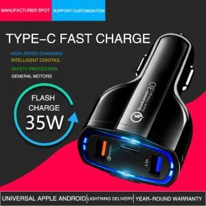 Wholesale Multiple USB Port Qualcomm 3.0 Quick Charge PD Car Charger from china suppliers