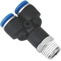 Wholesale Y Shaped Air NPT Threaded Fittings Connectors Metric Push To Connect One Touch from china suppliers