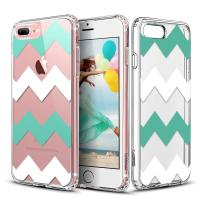 Buy cheap Chevrons Clear Hard Apple Cell Phone Cases Back Panel Integrated Soft TPU Bumper from Wholesalers