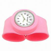 Wholesale silicone papa slap bracelet watch , 100% silicone slapbands watch from china suppliers