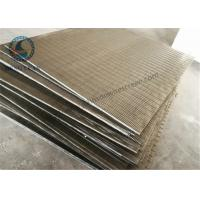 China Stainless Steel 304 316 Wedge Wire Screen V Shape Slot Screen Panels 1219 mm Length for sale
