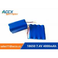 Wholesale 7.4V 4000mAh 2S2P 18650 battery pack for printer, remote control car grade A quality from china suppliers