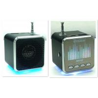 Buy cheap Rechargeable Mini Speakers with Flashlight/ Radio With Sound Spectrum 7 Colors from wholesalers