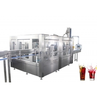 China 500ml Bottle 3.5KW 3 In 1 Rotary Soft Drink Bottling Machine on sale