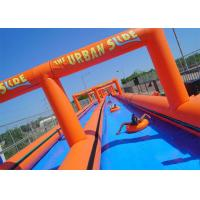 Wholesale Customized Orange Big Commercial Inflatable Water Slides For Adults from china suppliers