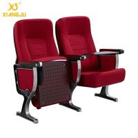 Buy cheap Elegant Moulded Wood Lecture Hall Chairs Polished Aluminum Feet from wholesalers