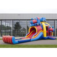Wholesale Childrens Train Inflatable Combo Bouncers , Durable PVC Meteria from china suppliers