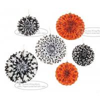 Wholesale Hallowmas Paper Fan Round Folding Fans Hanging Party Home Decorations from china suppliers