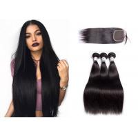 Wholesale Virgin Straight Bundles With Closure / Unprocessed 3 Bundles Body Wave from china suppliers