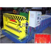 Wholesale 50Hz Glazed Tile Roll Forming Machine 9-11 Rows Rollers PLC Control System from china suppliers