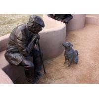Wholesale Old Man And Dog Bronze Statue For Home Garden Public Decoration from china suppliers