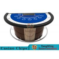 Wholesale Stainless Steel Fender Half Round Poker Table For Blackjack Gambling Game from china suppliers