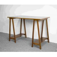 Wholesale Hand Finished Soild Wood Home Office Desk Workstation With Desktop panel from china suppliers