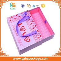 Buy cheap luxury custom silde cardboard gift box with handle from wholesalers