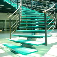 Wholesale Mono Stringer Stairs / Single Stringer Metal Staircase Prefabricated from china suppliers