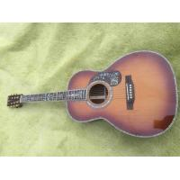 China Factory custom 39 inches ooo45c style acoustic Guitar Ebony fingerboard Real abalone solid Guitar on sale