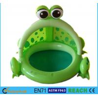 Wholesale Frog Shaped OEM Blow Up Kiddie Pool High Safety For Ages 6 Months - 36 Months from china suppliers