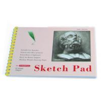 Wholesale White Paper Pencil Sketch Pad Drawing Book , Spiral Sketch Drawing Pad from china suppliers