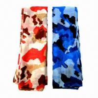 Wholesale Fashionable Voile Scarves with Camouflage Pattern Printed, Various Colors are Available from china suppliers