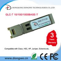 Wholesale Small Form Pluggable module transceivers,GLC-T from china suppliers